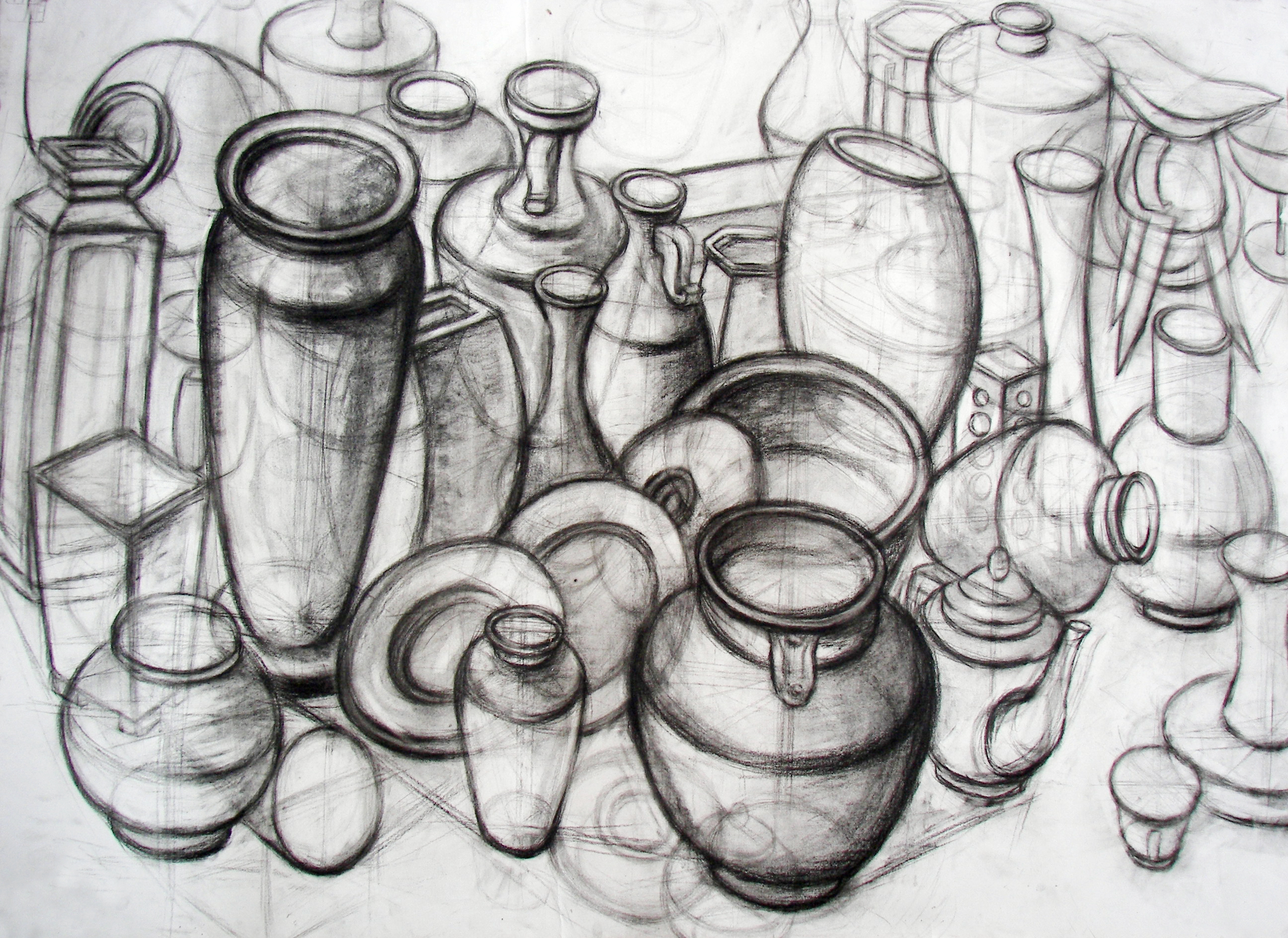 结构素描《瓶罐》