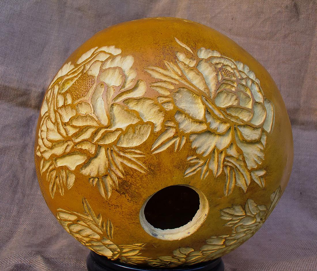 纯手工雕刻葫芦艺术品|手工艺|工艺品设计|zhanku358