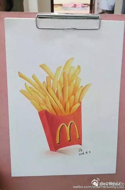 手绘彩铅画