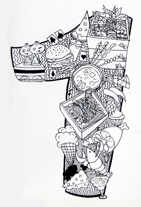 2016手绘插画新年贺图|绘画习作|插画|丘大美
