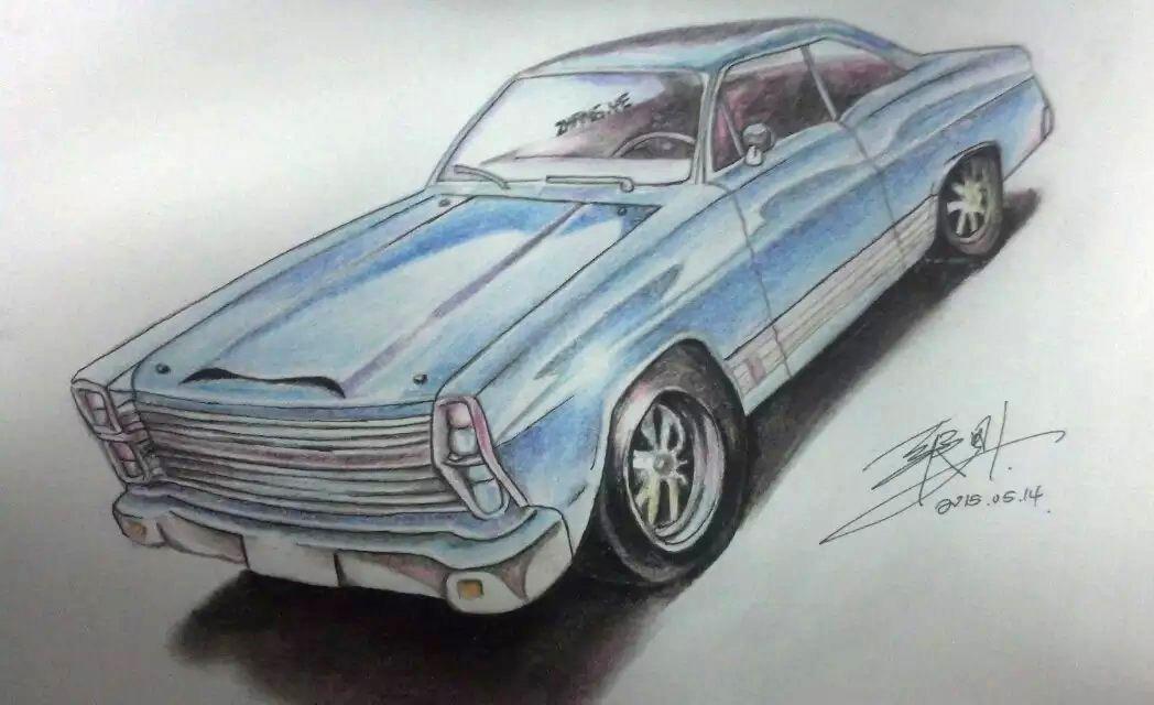 临摹 彩铅《汽车》
