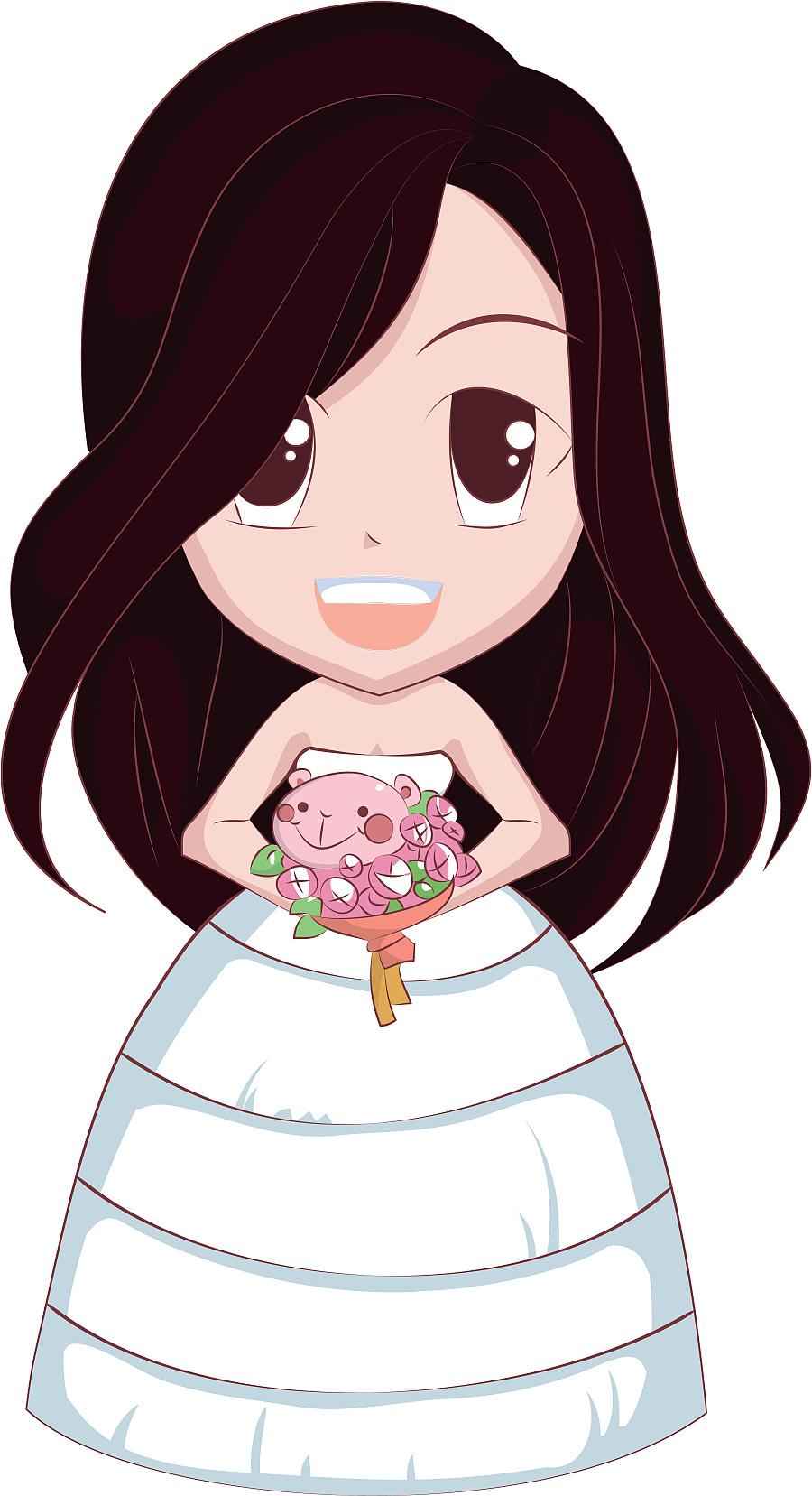 结婚迎宾和舞台两边卡通人物绘制