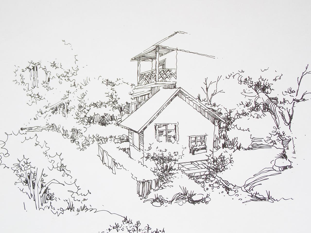 手绘线稿|纯艺术|其他艺创|niuong - 原创作品 - 站酷