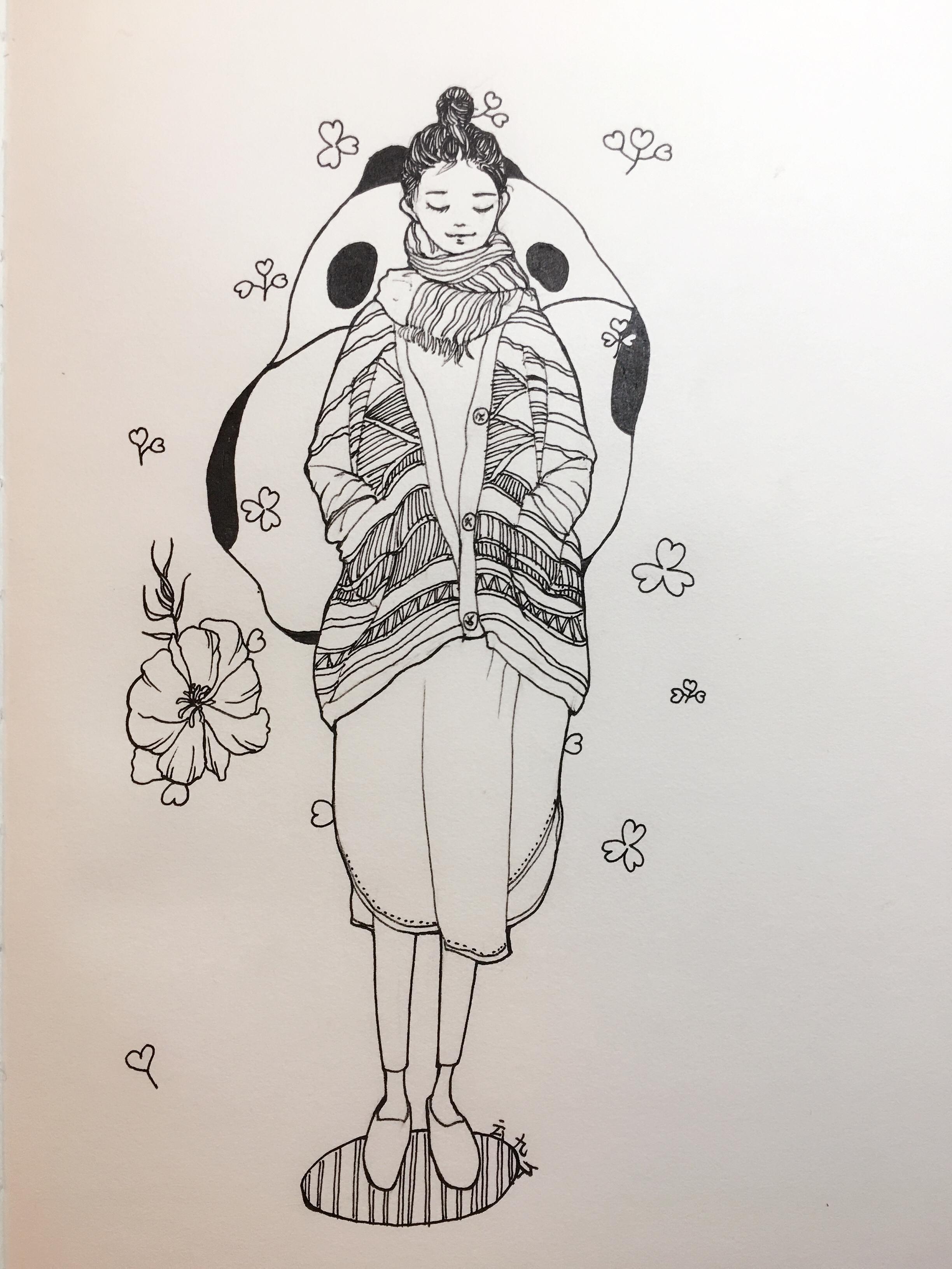 人物画|插画|插画习作|云艺 - 原创作品 - 站酷