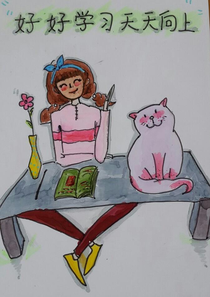 手绘临摹插画(千寻,贝克汉姆背影,小王子,路飞,叮当猫