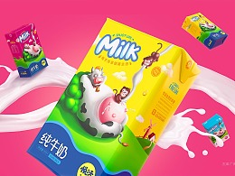 牛奶包装设计-鲸奇创意