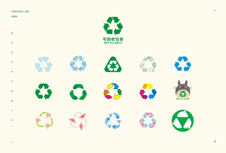 垃圾分类-标志变形创意-脑洞大开图片