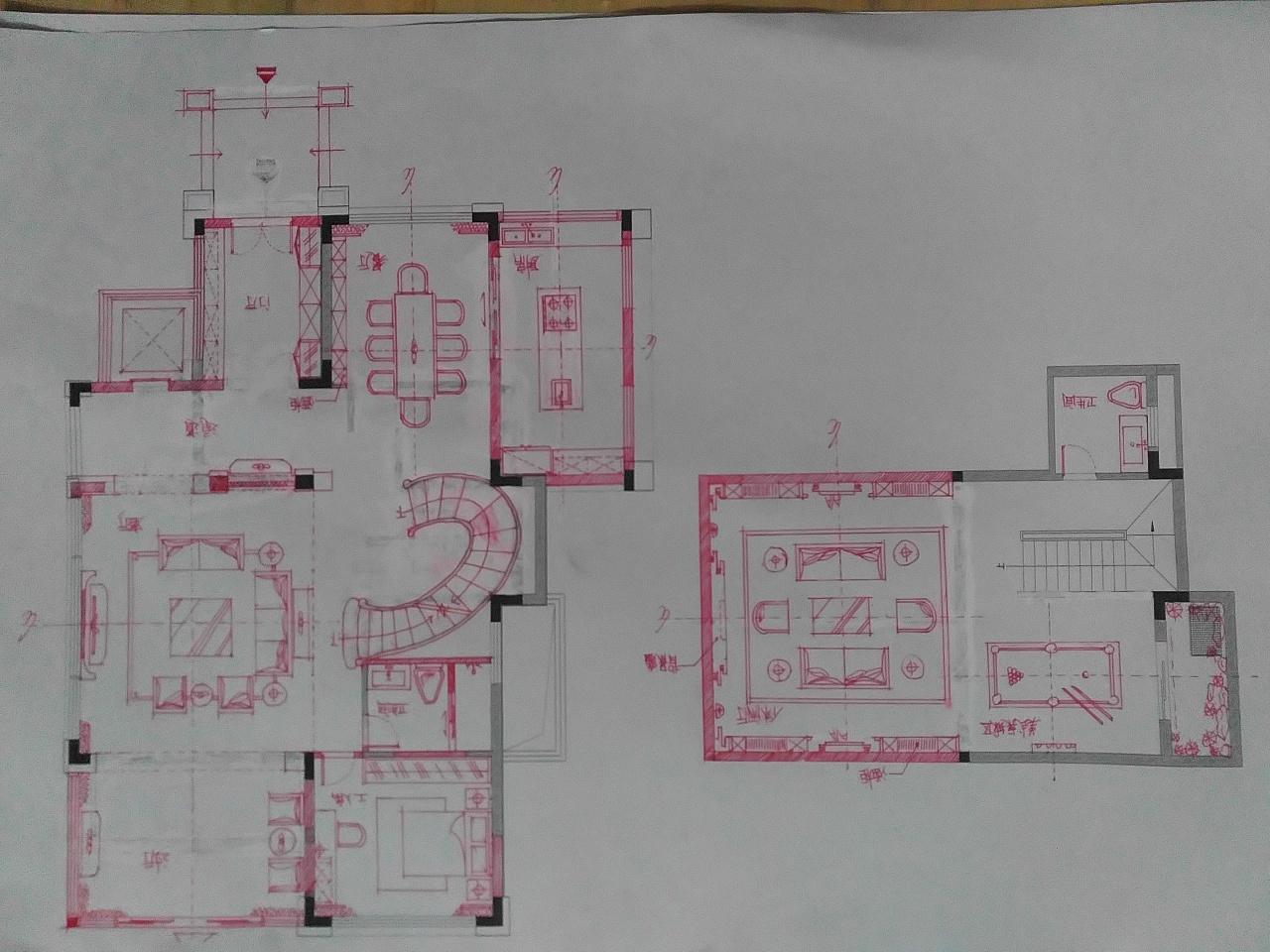 平面布局手绘图|空间|室内设计|smog - 原创作品