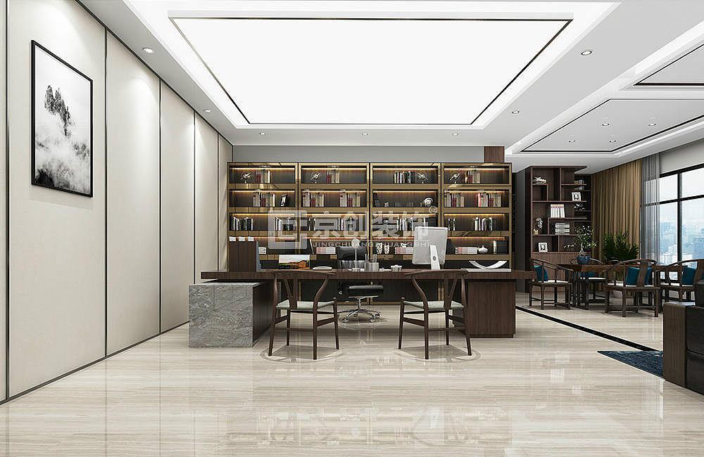 400平办公室装修设计,现代简约办公室装修效果图