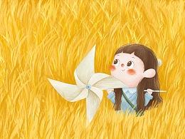 稻田女孩—小梦鱼