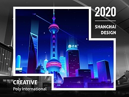 SA9527-你好上海 & 暗空间城市插画~