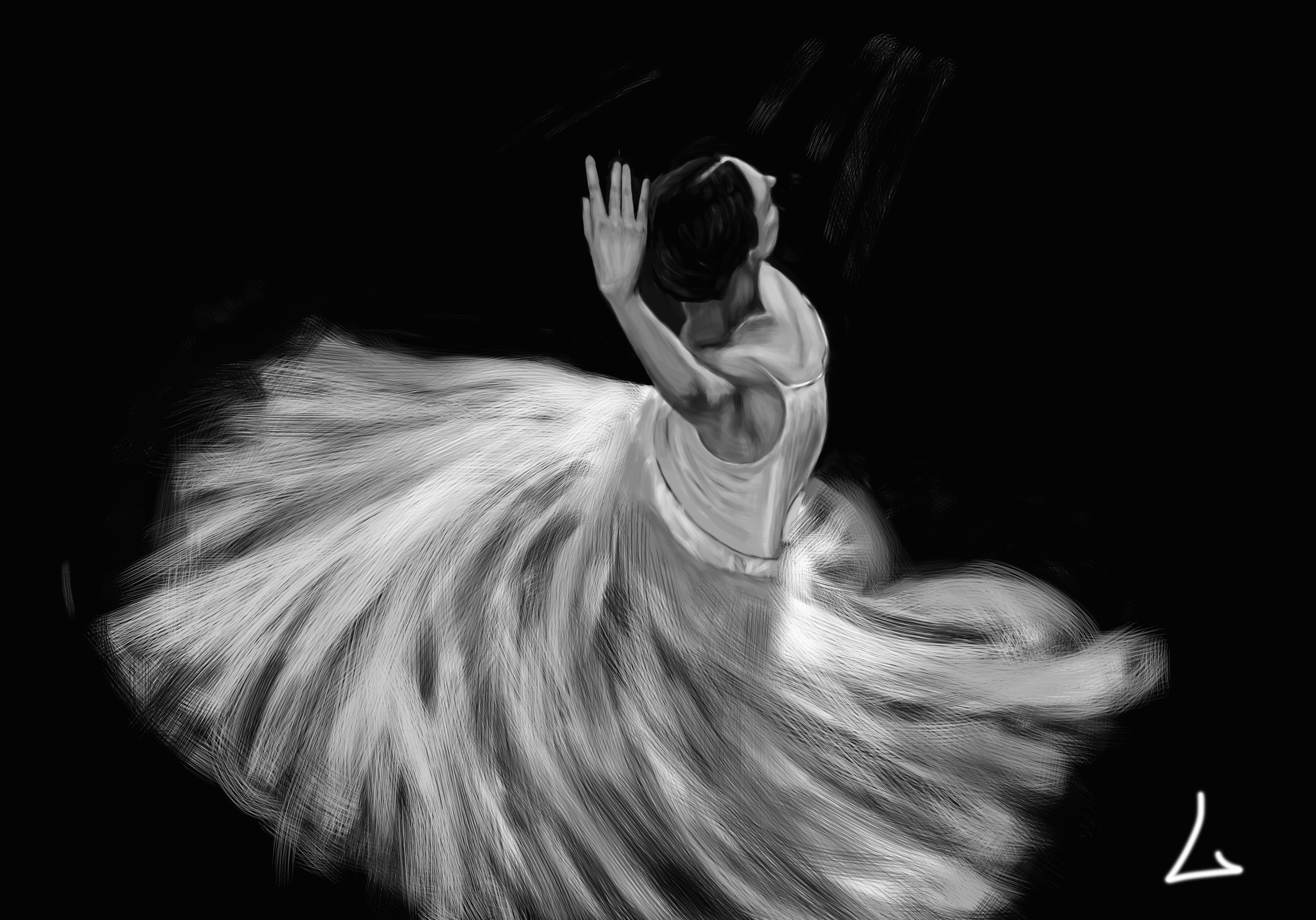 舞者手绘练习