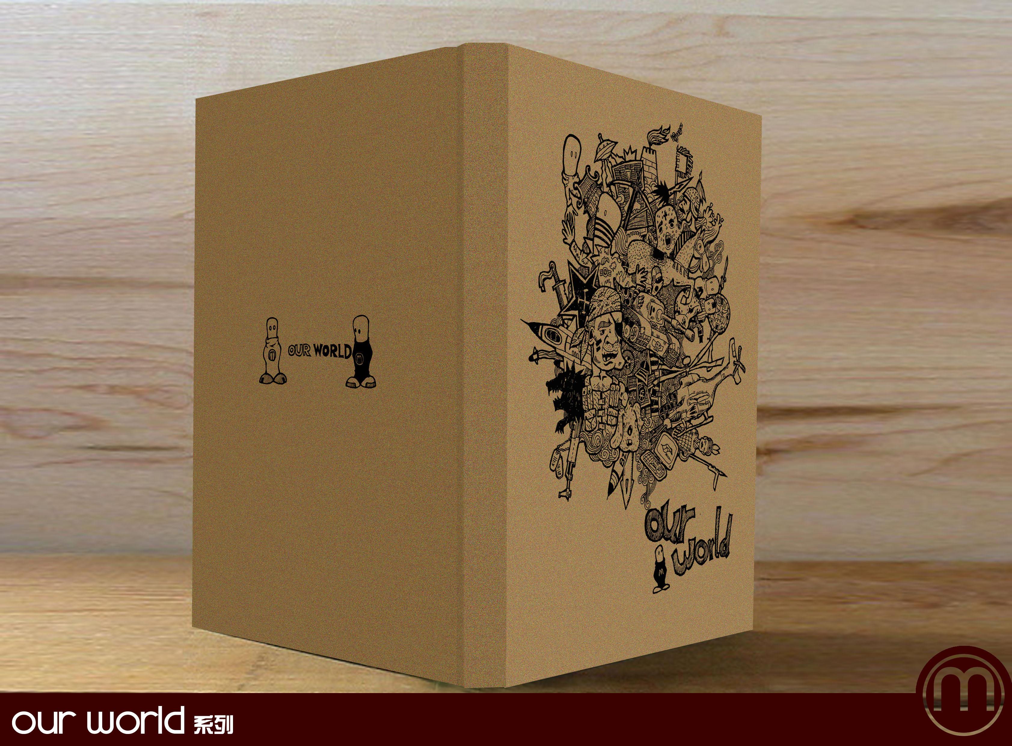 另外一套笔记本设计,个人觉得牛皮纸材质图片
