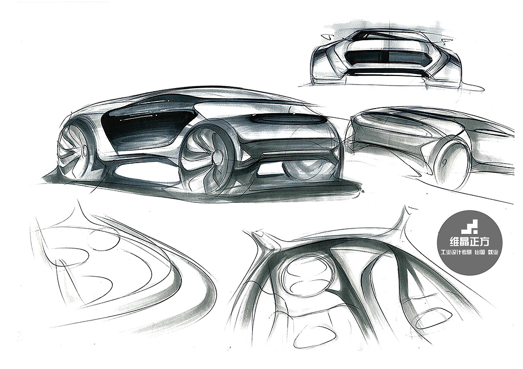工业设计手绘图片|工业/产品|交通工具|维晶正方工业