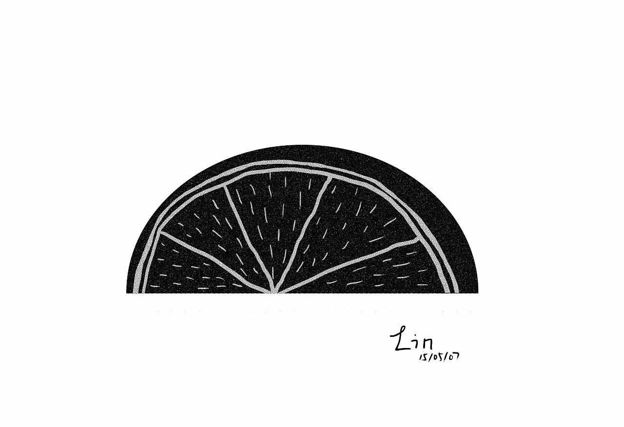 桔子手绘黑白图