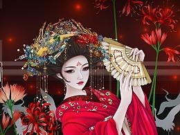 浮世绘-舞姬