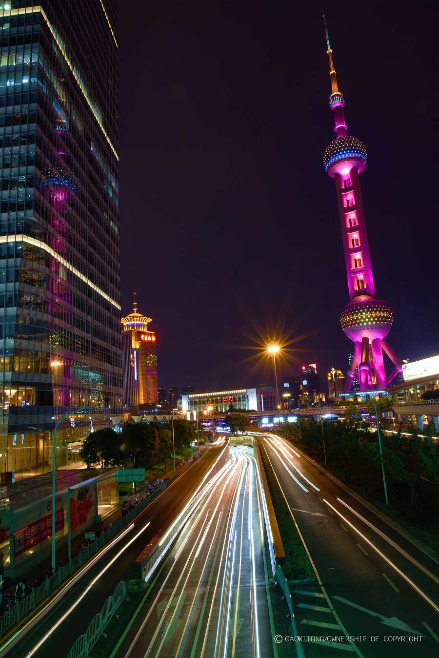 上海陆家嘴夜色|环境/建筑|摄影|创世手绘 - 原创设计