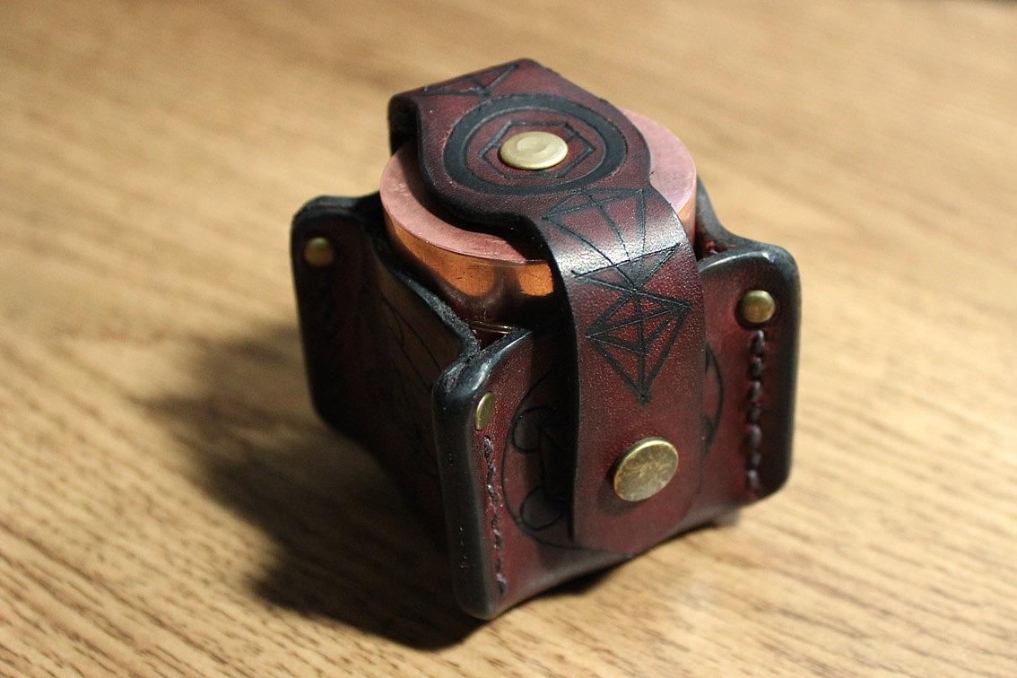 原创手工皮具-梅尔卡吧灵性之盒