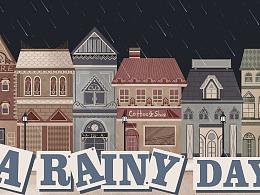 儿插-绘本-A Rainy Day(儿童英语)
