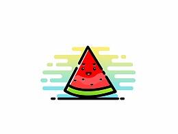小插图之夏日西瓜