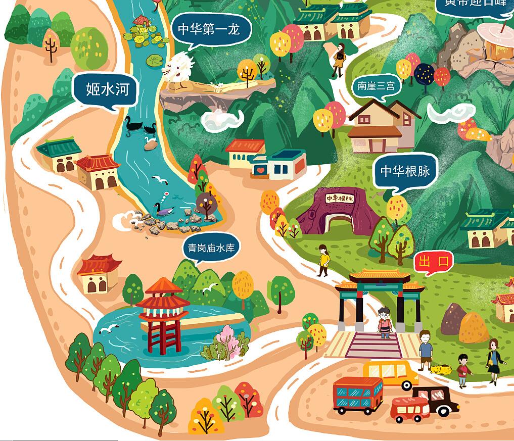 河南具茨山手绘地图