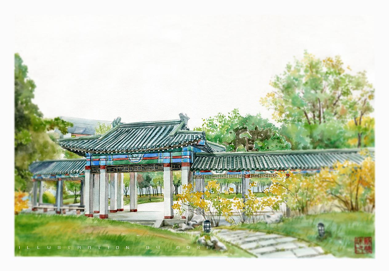 手绘高校系列——《中国人民大学》