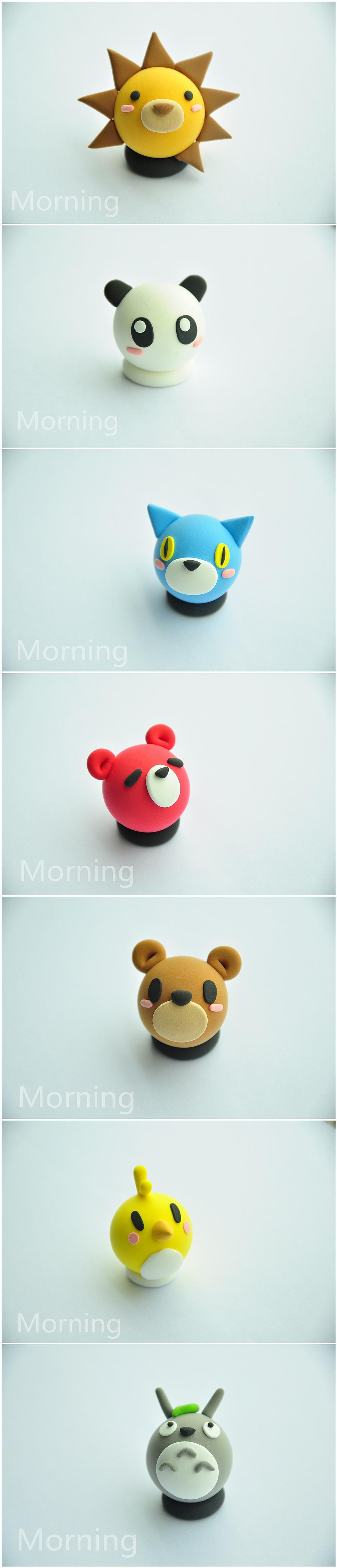 简单的可爱动物粘土手作 - 原创作品 - 站酷(zcool)