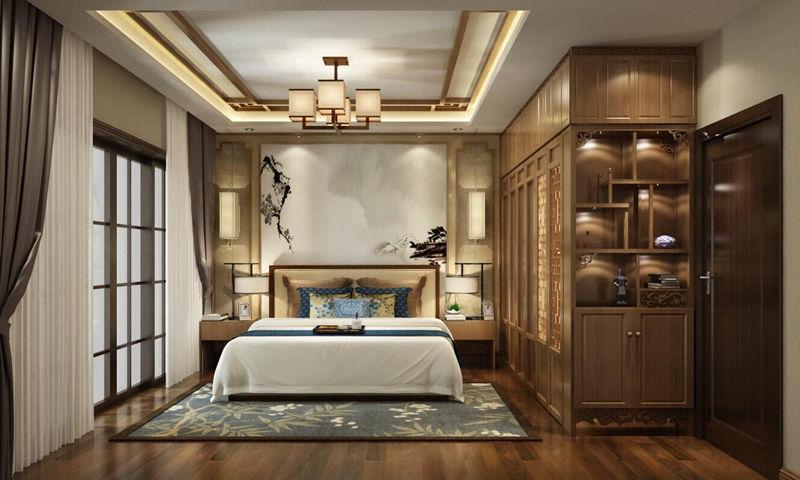唐卡装饰江北洋房装修设计案例|首创鸿恩德尔菲谷|新中式风格装修