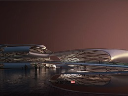 lumion未来科幻感建筑动画 / 西安-临潼三里河文体中心