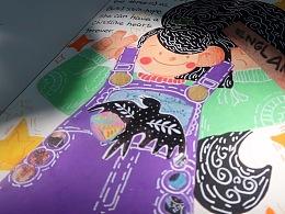 鸡翅和她的朋友们——丙烯马克笔儿童插画装饰画