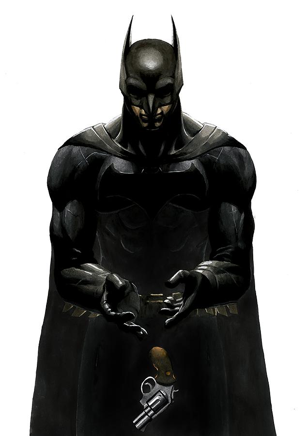 马克笔手绘作品-《超人&蝙蝠侠》