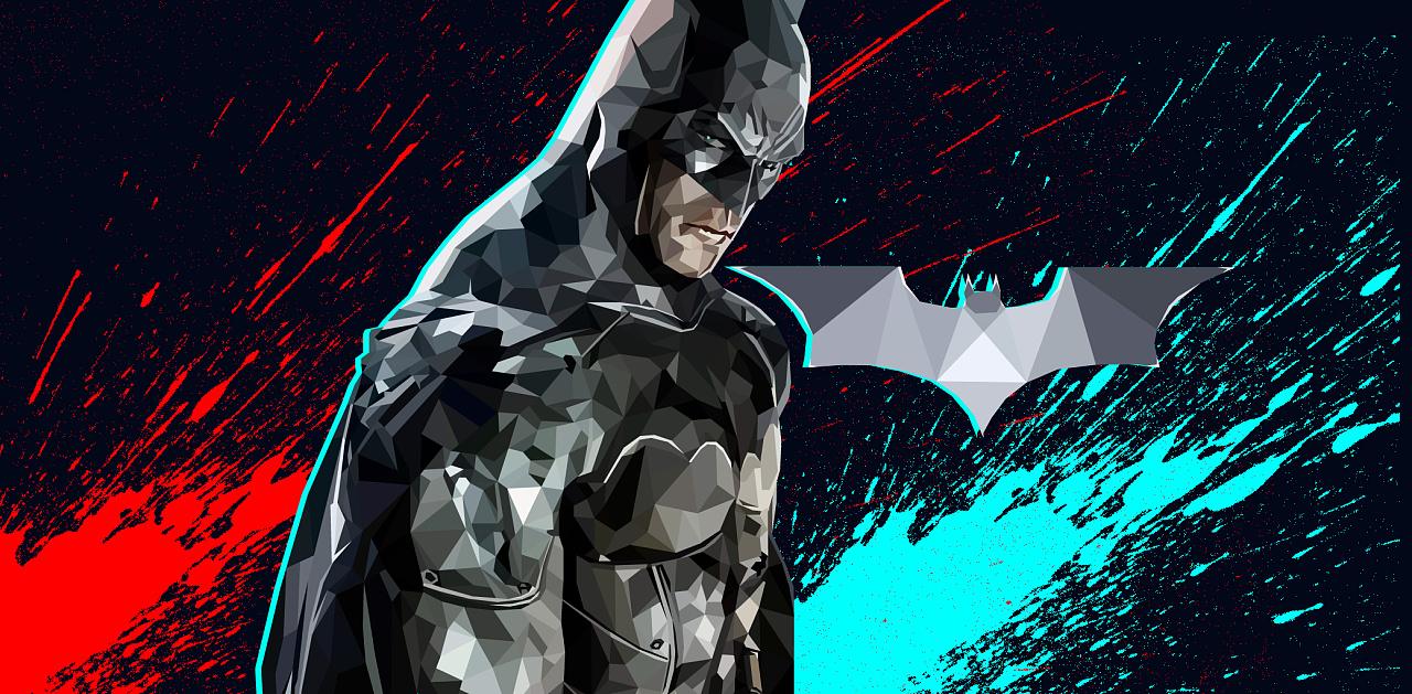 ai多边形人物-蝙蝠侠
