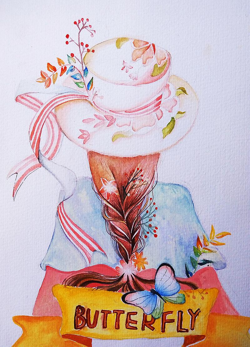 水彩手绘小稿|插画|儿童插画|蜜甘绪 - 原创作品