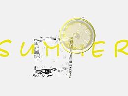 C4D——柠檬冰块