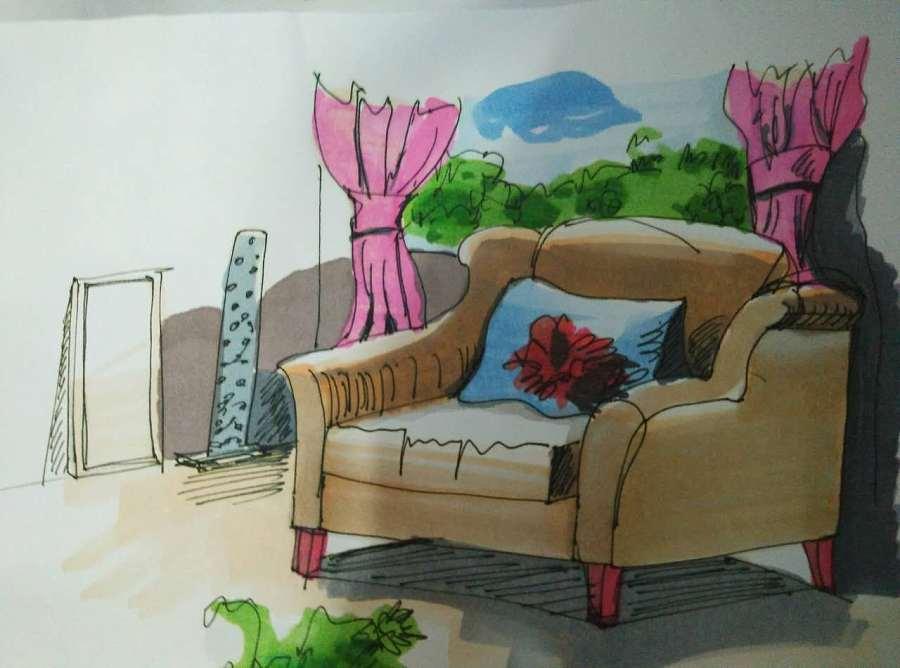 手绘——室内场景彩色篇