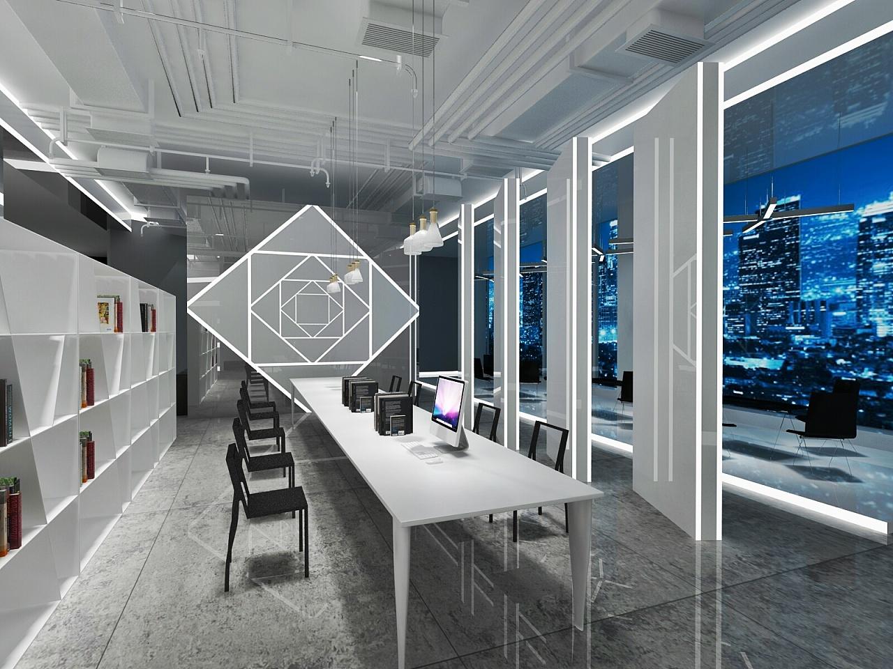 作业空间设计办公|学生|室内设计|wuli言-原创作品广州室内设计空间专业有多少人图片