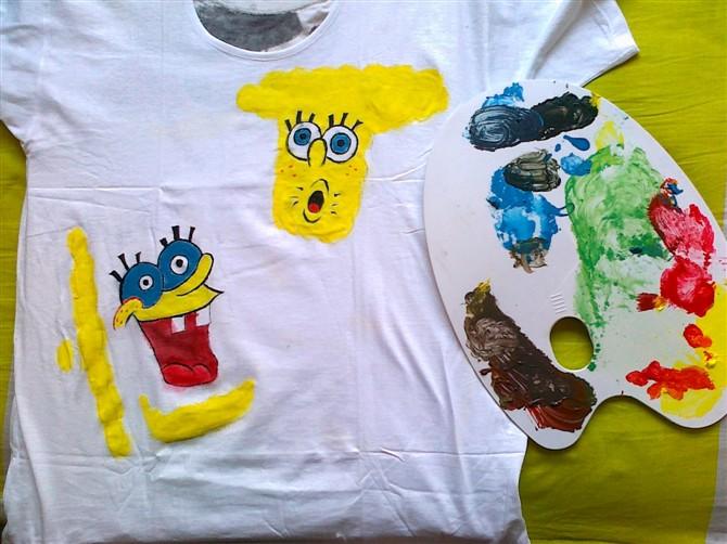 手绘t-shirt|水粉|纯艺术|hero