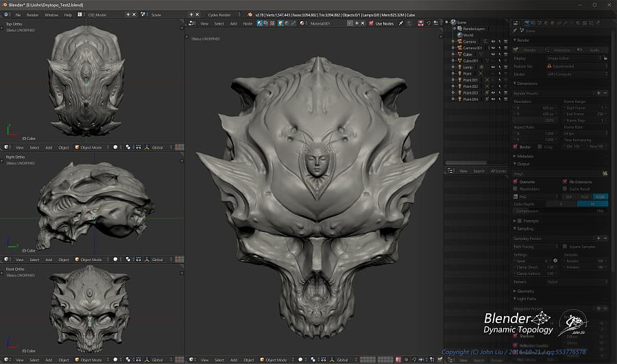 查看《Blender动态雕刻极限测试作品-双生头骨》原图,原图尺寸:1924x1136