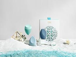 国风美妆工具美妆蛋包装设计