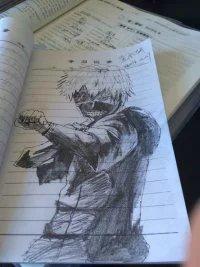 【东京种】主角金木研蔷薇手绘|单幅漫画|动全集白漫画素描的图片