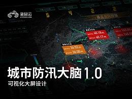 数据可视化大屏-城市防汛大脑1.0