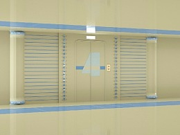 【C4D】垂直电梯门