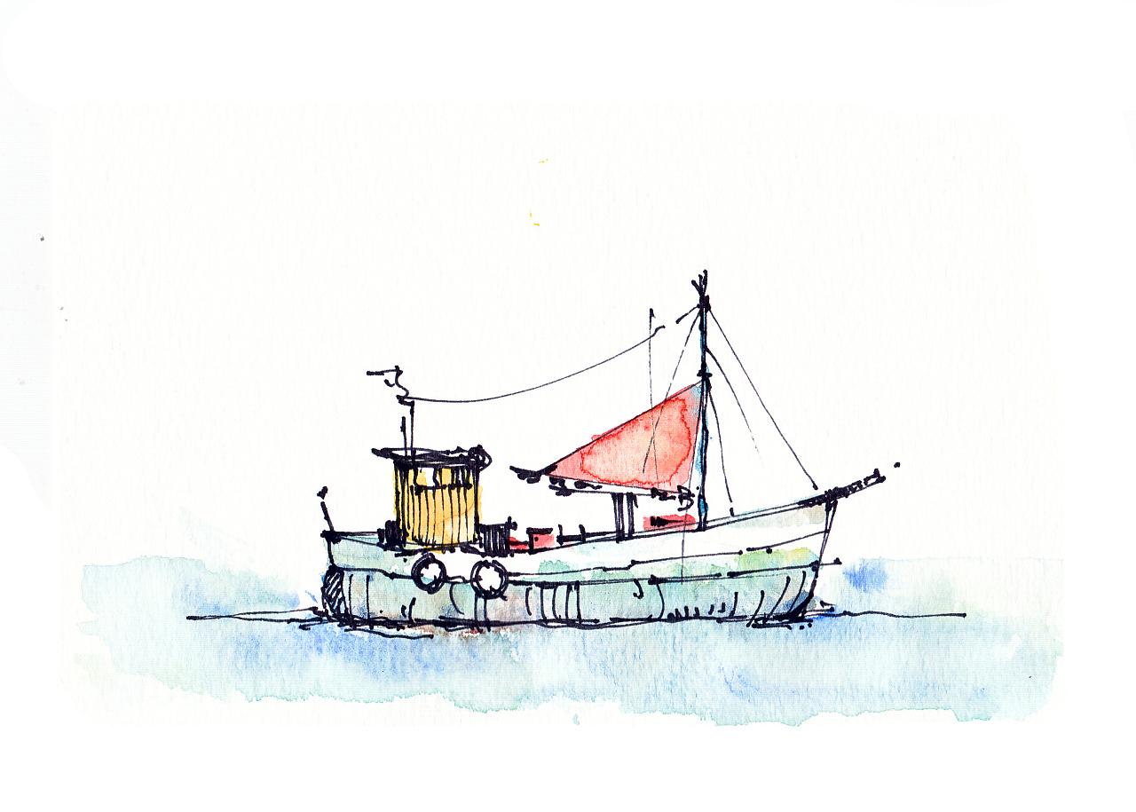 手绘水彩作品