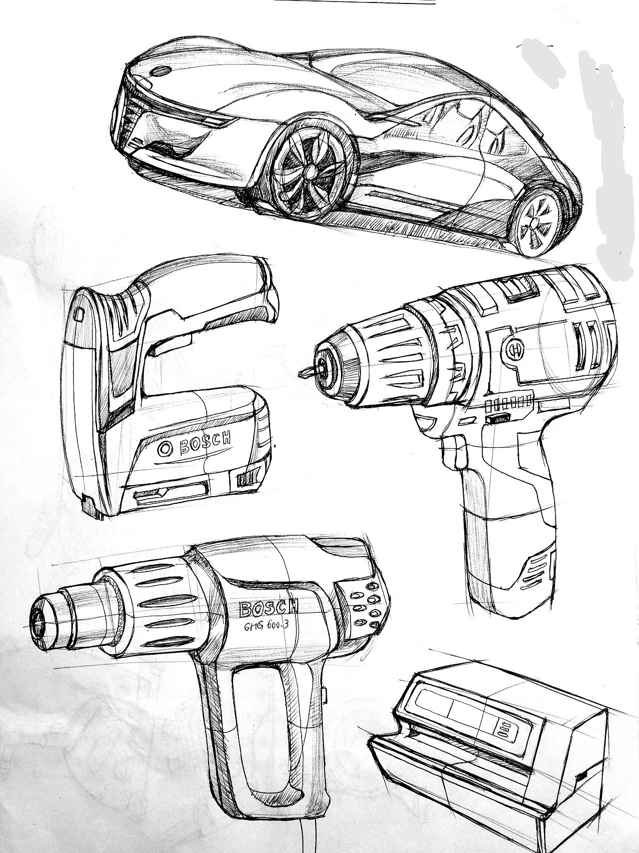 工业产品手绘_产品手绘练习|工业/产品|电子产品|g_memory - 原创作品 - 站酷 (ZCOOL)