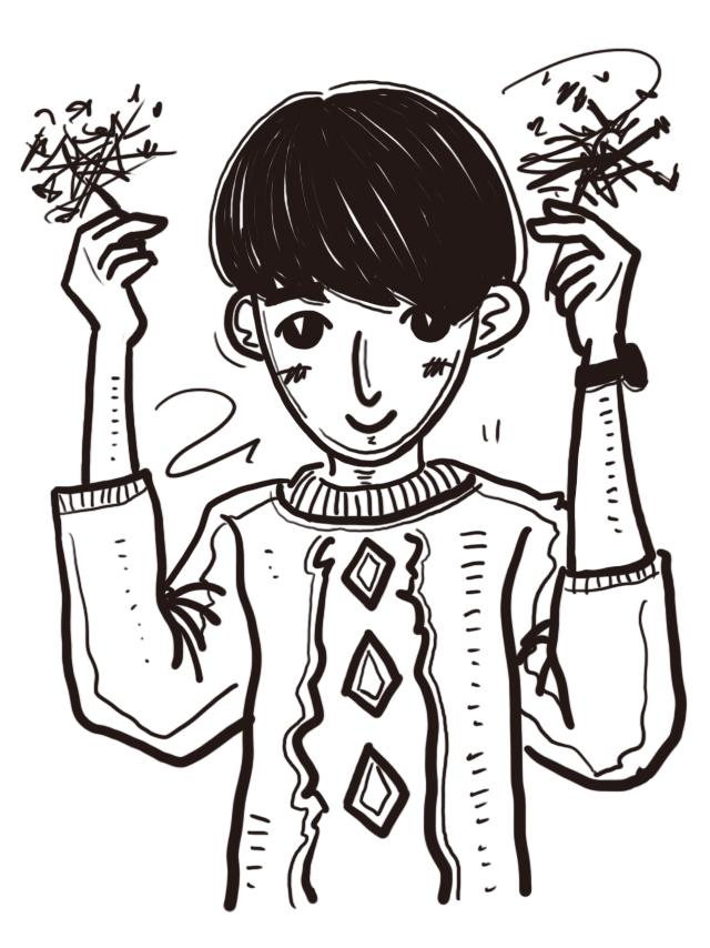 手绘人物q版卡通|商业插画|插画|蔡伊婷