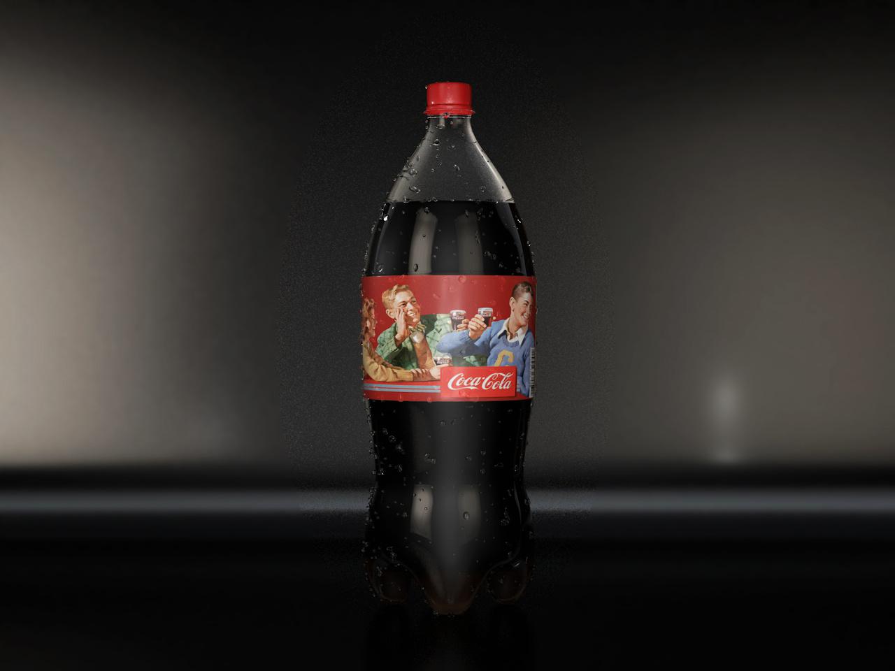 大瓶可乐建模 渲染