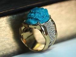 绿松石戒指设计定制过程记录