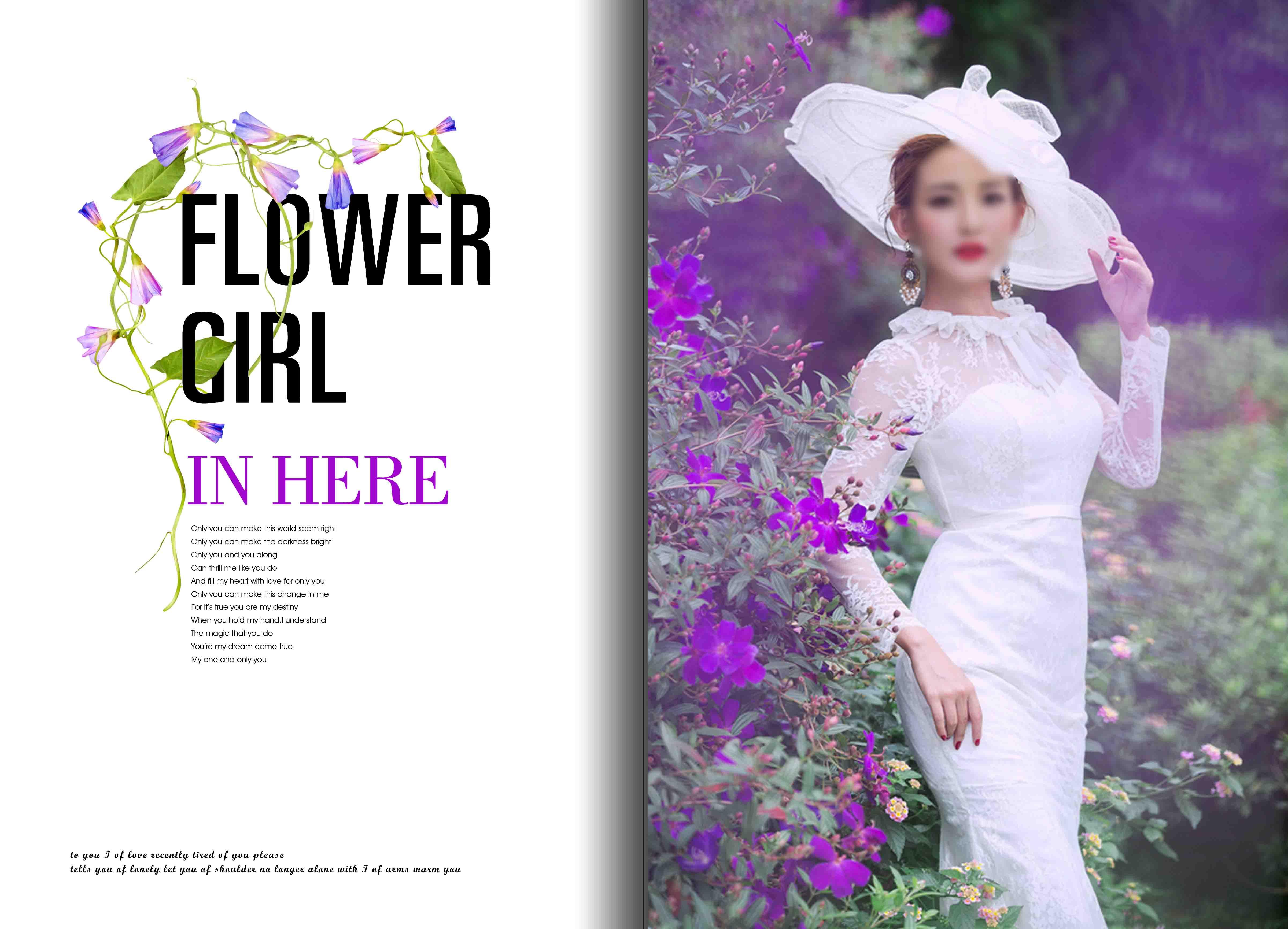 婚纱照 婚纱照相册 相册模板 相册排版 相册设计 婚纱相册排版 紫色 薰