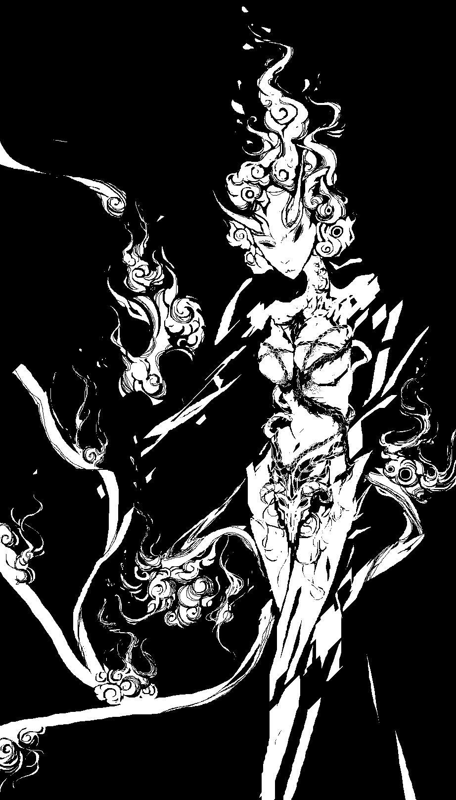 黑白系像素画