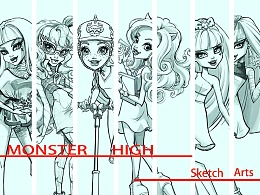 《怪物高中》完美收官——线稿总结